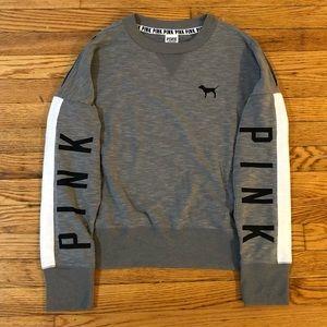 EUC PINK Victorias Secret Cold Shoulder Sweatshirt